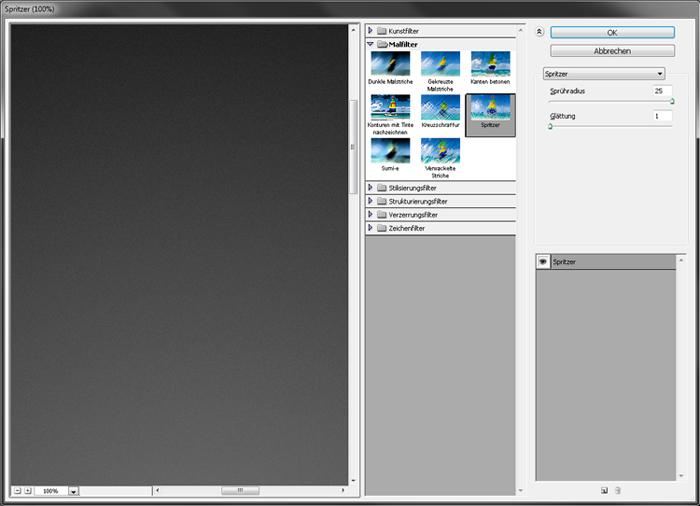 Spritzer Filter Photoshop