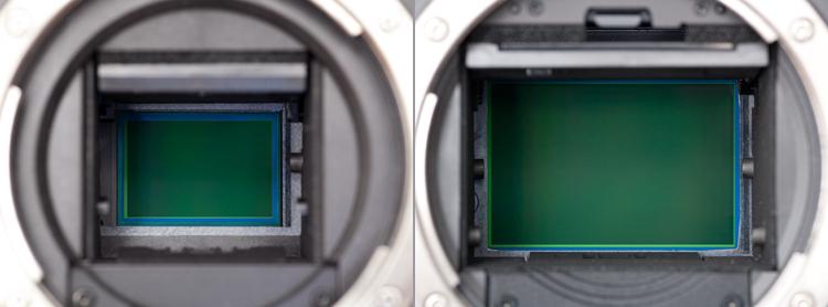 Sensor APS-C und Vollformat im Vergleich
