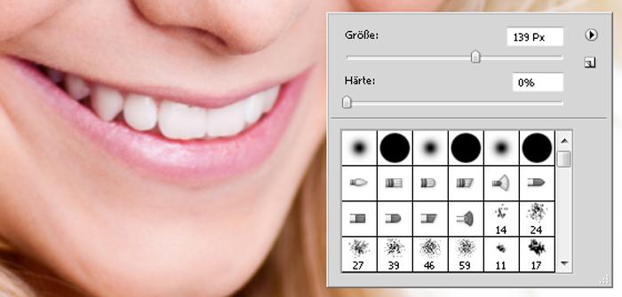 Zähne weißer Photoshop