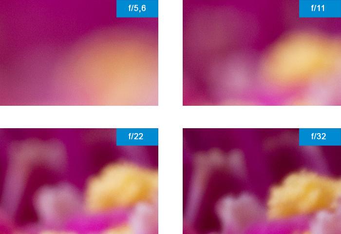 Blendenreihe Schärfe Vergleich Detail