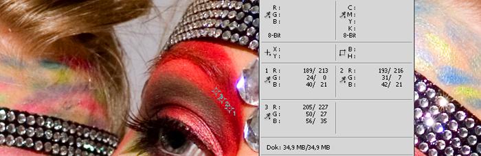 Farbwerte Info Palette