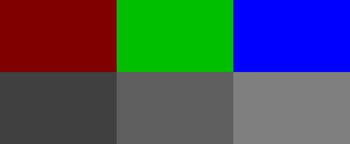 RGB Schwarzweiß Helligkeit