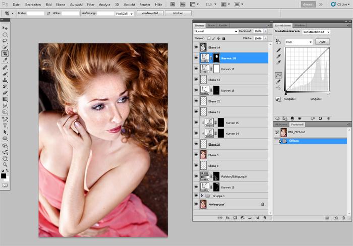Arbeitsbereich Photoshop