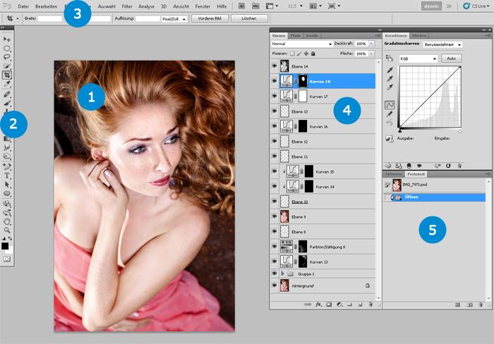 Photoshop Arbeitsbereich