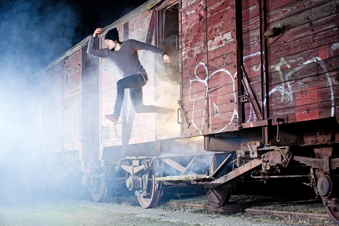Fotoshooting Rauch Qualm Waggon