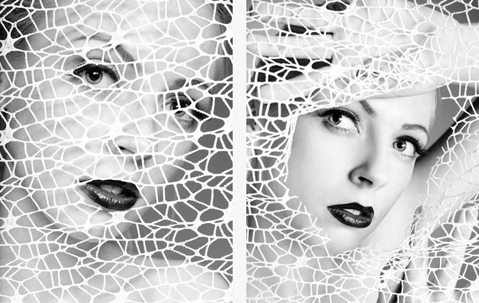 Portrait schwarzweiß Beauty