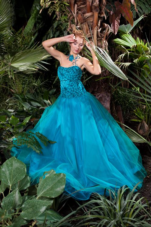 Kleid Fashion im Gewächshaus