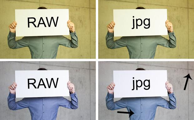 Der Weißabgleich lässt sich nur noch mit dem RAW einstellen, nicht mit dem JPG.