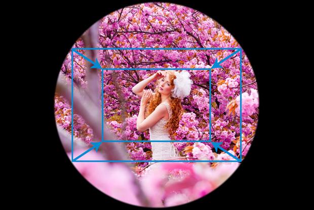 kleinerer Bildausschnitt durch Crop-Faktor vom APS-C Sensor